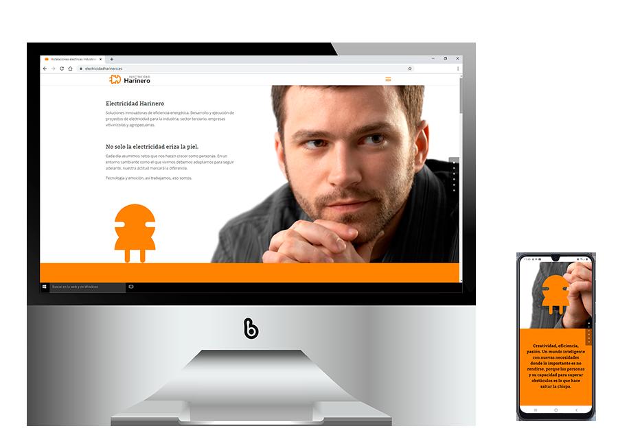 Marketing digital y diseño web para Electricidad Harinero