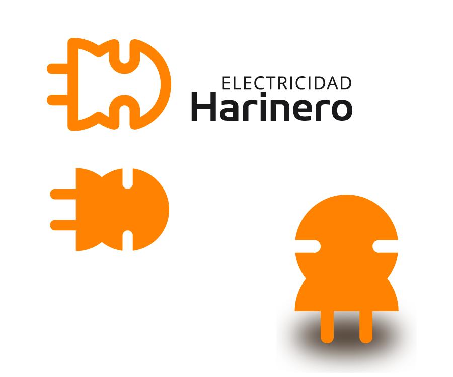 Diseño de logo para Electricidad Harinero
