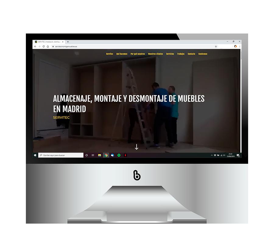 Desarrollo web profesional montaje de muebles