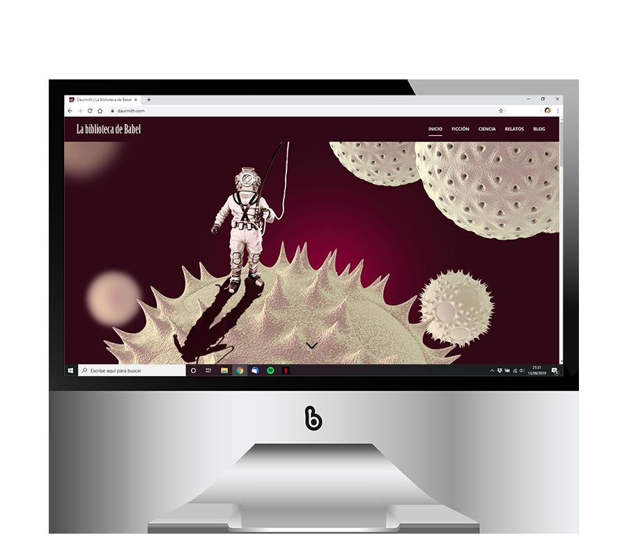 Diseño de blog profesional La Biblioteca de Babel de Daurmith
