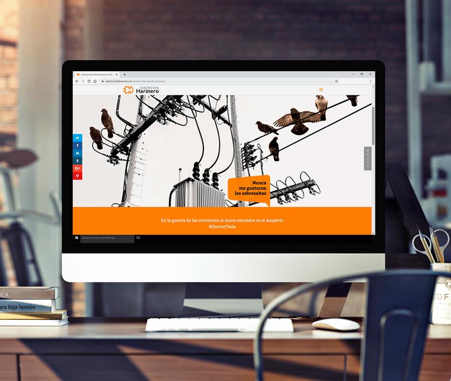 Diseño web corporativa para Electricidad Harinero