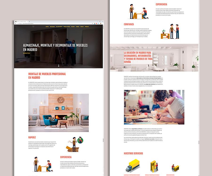 Diseño y desarrollo web one page para profesional