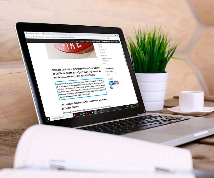 Copywriting técnico con SEO para web y blog Certiberia