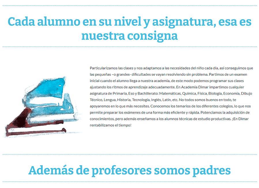 Copywriting web para academias y centros educativos
