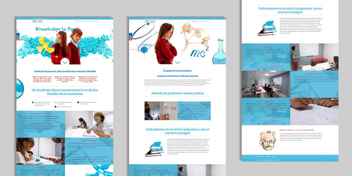 Desarrollo web para Academias Dimar