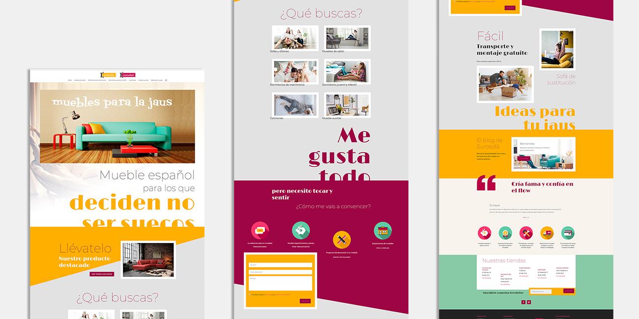 Desarrollo web y diseño UX para tienda online de muebles Eurosofá