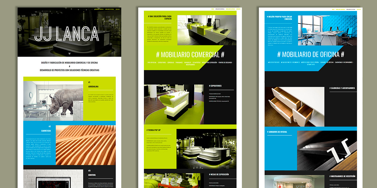 Desarrollo web para empresa de fabricación de mobiliario
