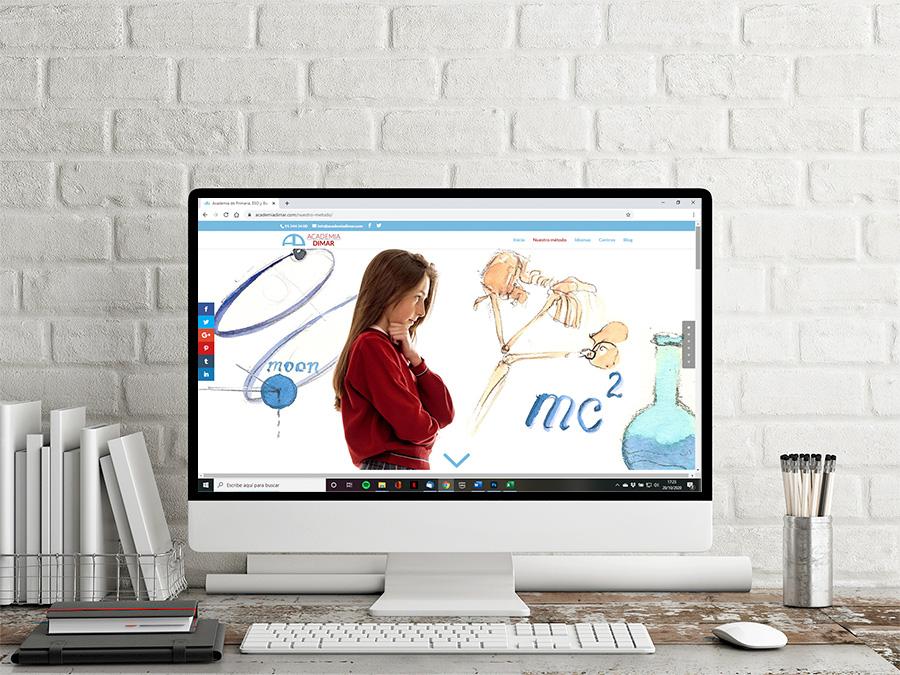 Diseño web para centro educativo Dimar