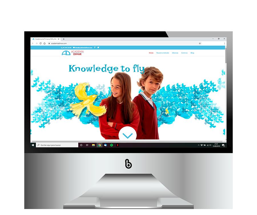 Diseño web para Academias Dimar
