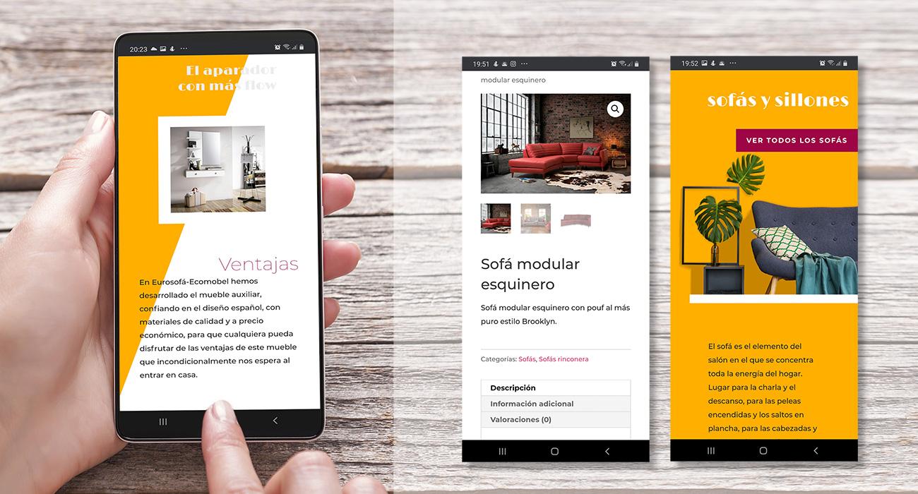 Diseño web responsive para tienda online de muebles