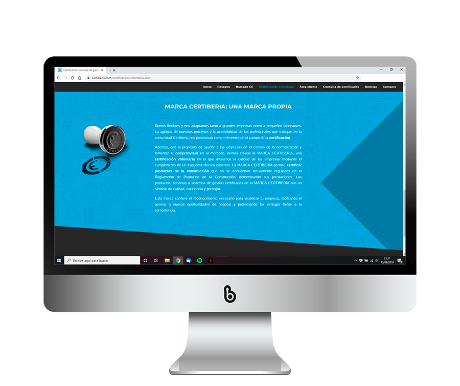 Diseño web con SEO para Certiberia