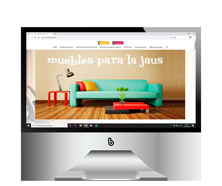 Diseño web para tienda de muebles Eurosofá