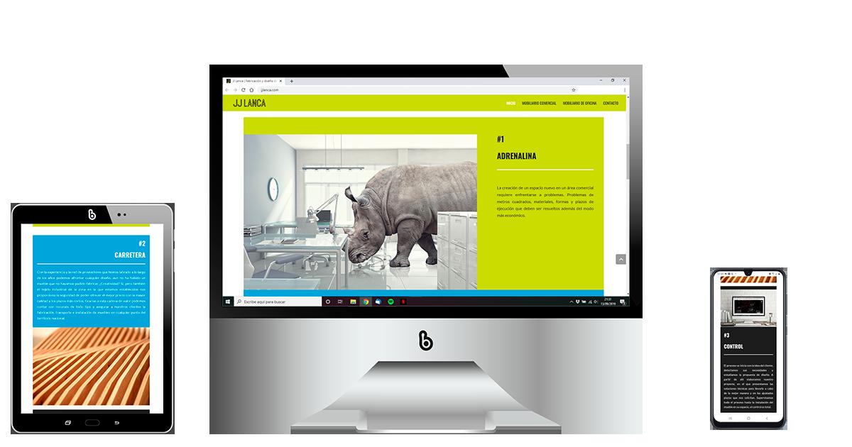 Diseño de página web para la empresa JJ LANCA