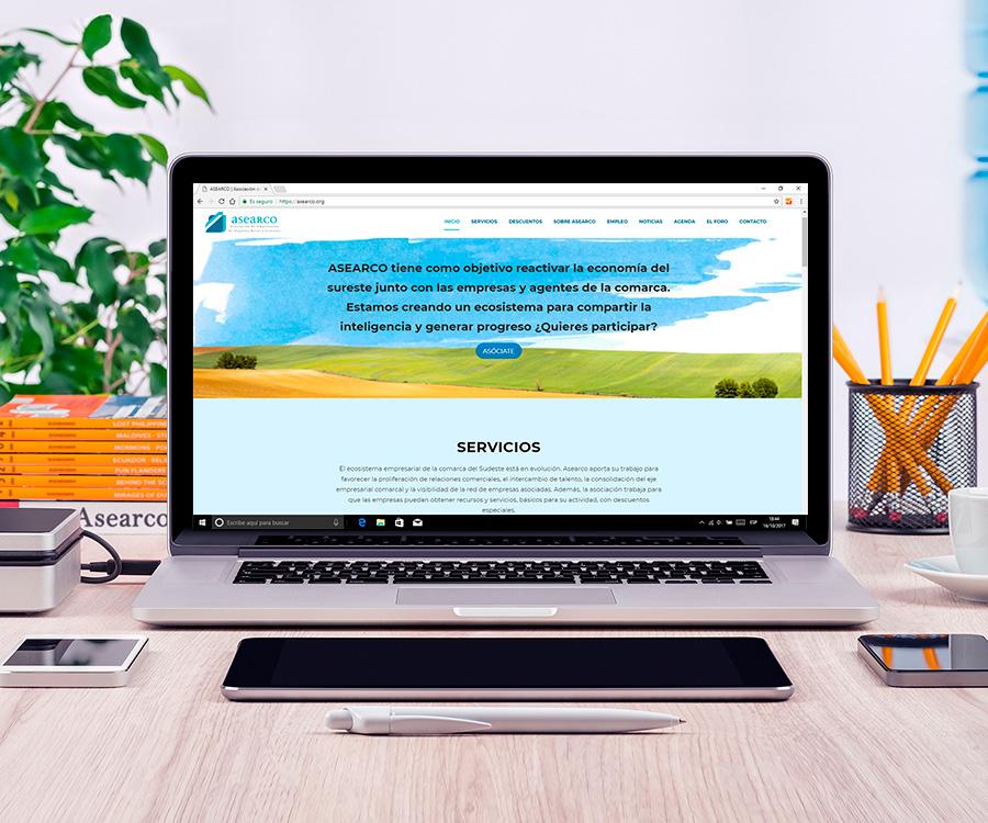 Creación de contenidos para la web de la Asociación de Empresarios de Arganda