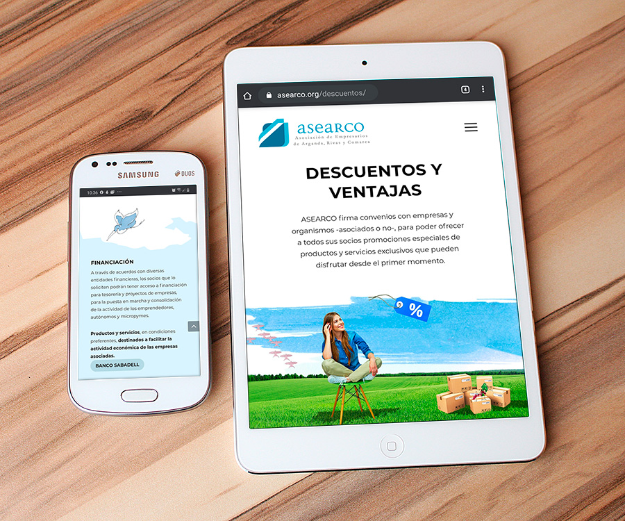 Desarrollo en wordpress página web ASEARCO