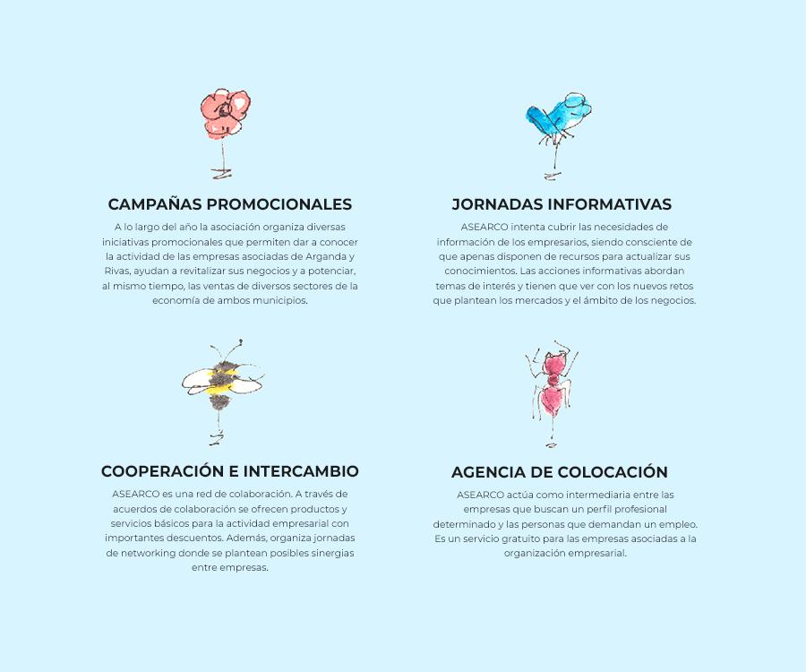 Ilustración para la web de ASEARCO