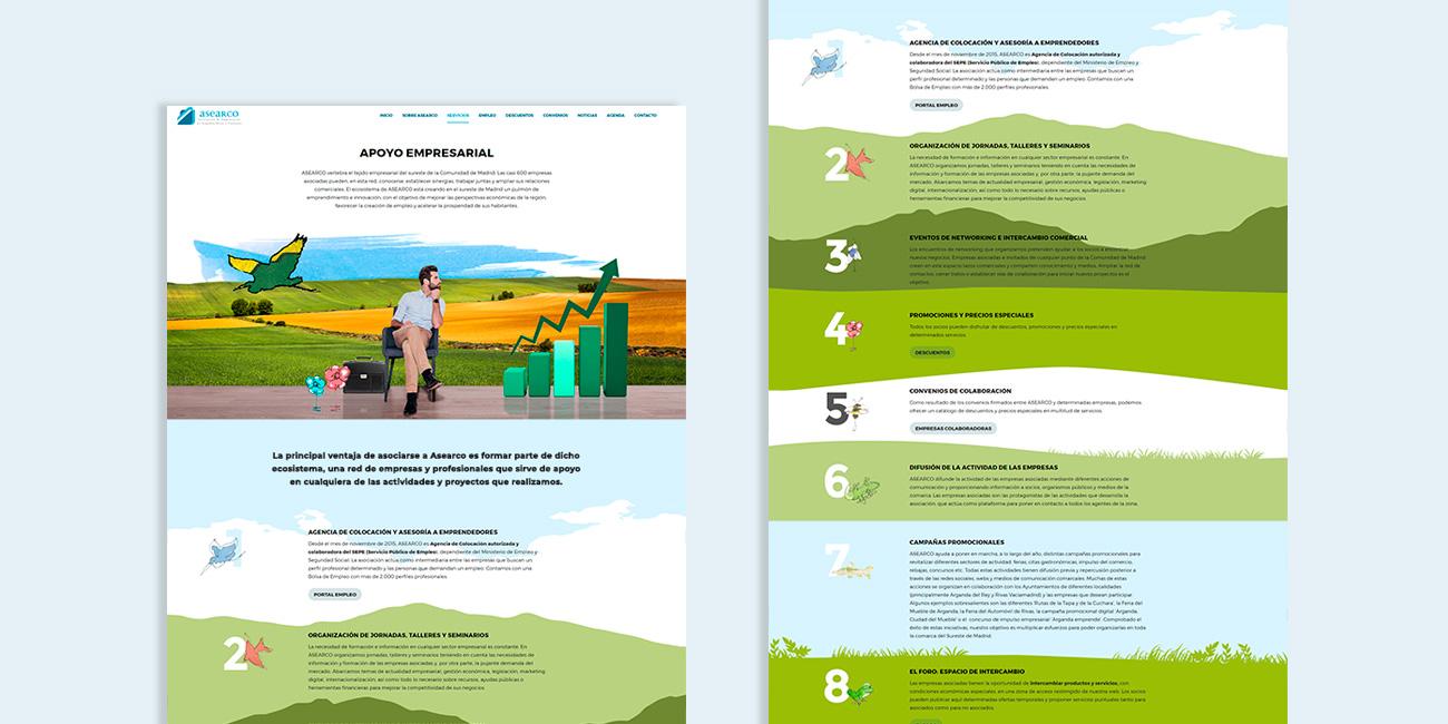Diseño gráfico y de interfaz de usuario para la web de ASEARCO