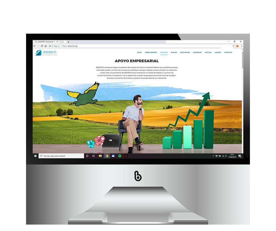 Diseño de web corporativa para ASEARCO