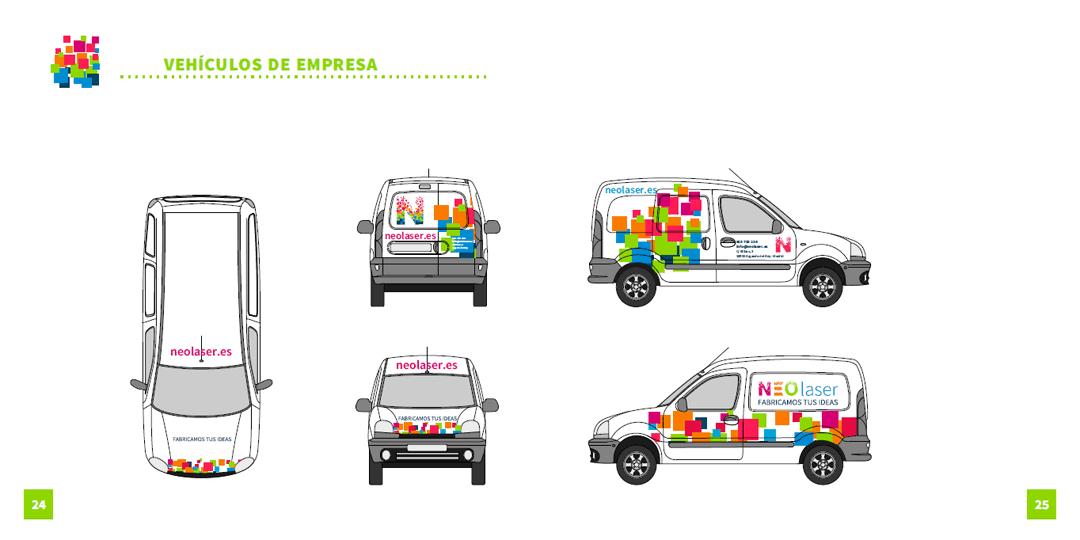 Diseño de rotulación de vehículos de empresa