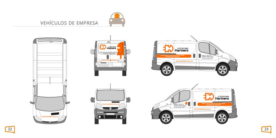 Aplicaciones de marca: el logo en vehículos de empresa