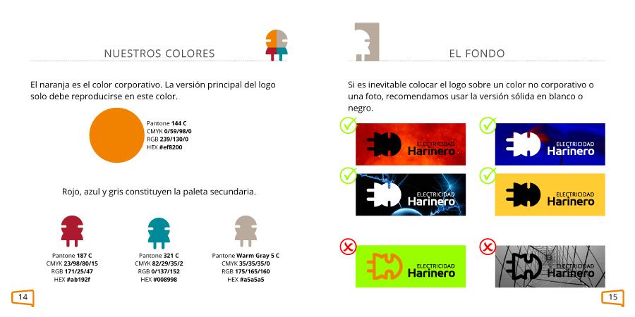 Definición de colores corporativos de una marca