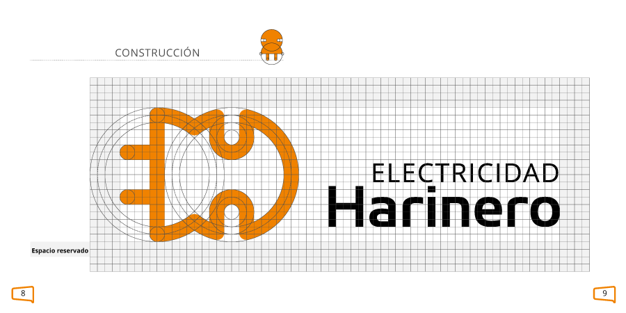 Construcción del logo en un manual de marca