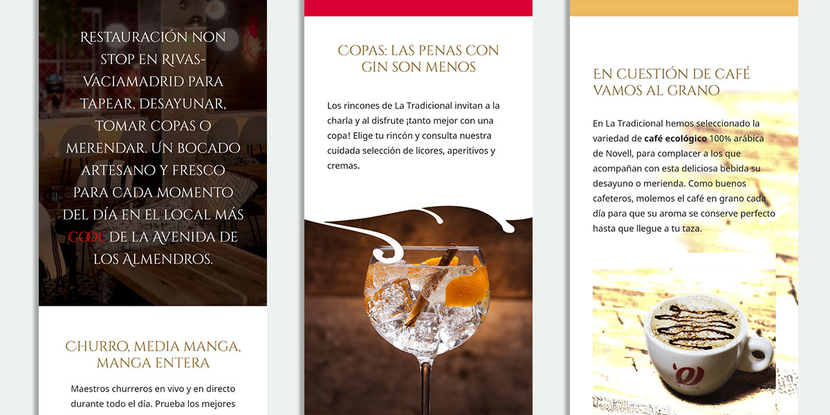 Copywriting para páginas web de restaurantes y hostelería