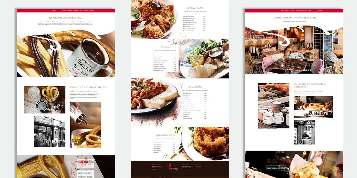 Diseño de interfaz de usuario para la página web de restaurante La Tradicional