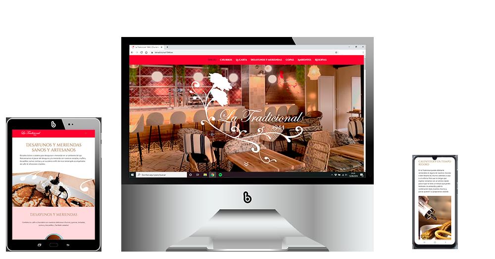 Diseño web adaptable Gastrobar La Tradiconal Rivas