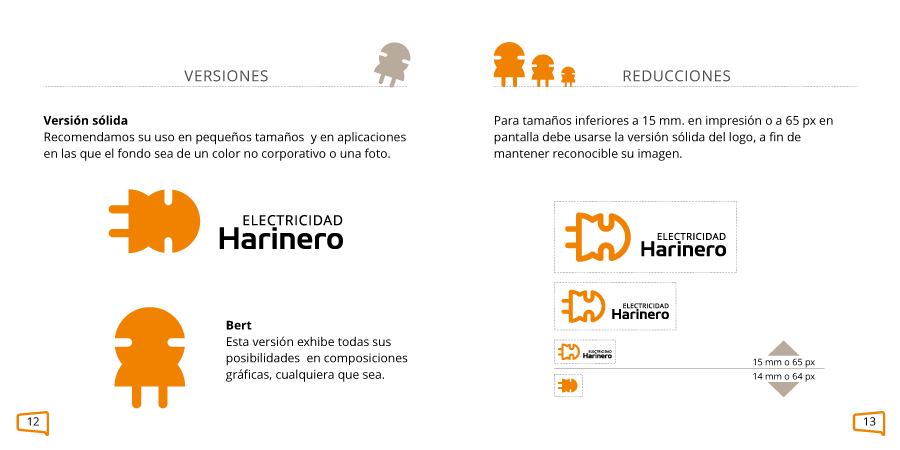 Versiones alternativas del logo y tamaños mínimos de reproducción