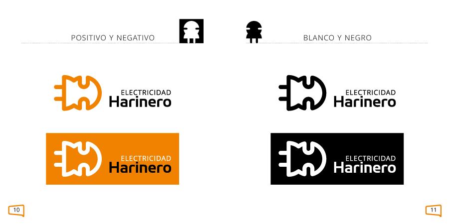 Versiones del logotipo en un manual de identidad corporativa