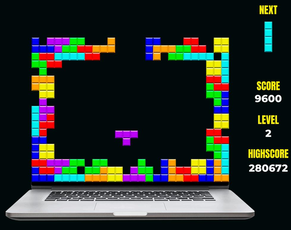 El diseño web con WordPress representado como una construcción con piezas de Tetris